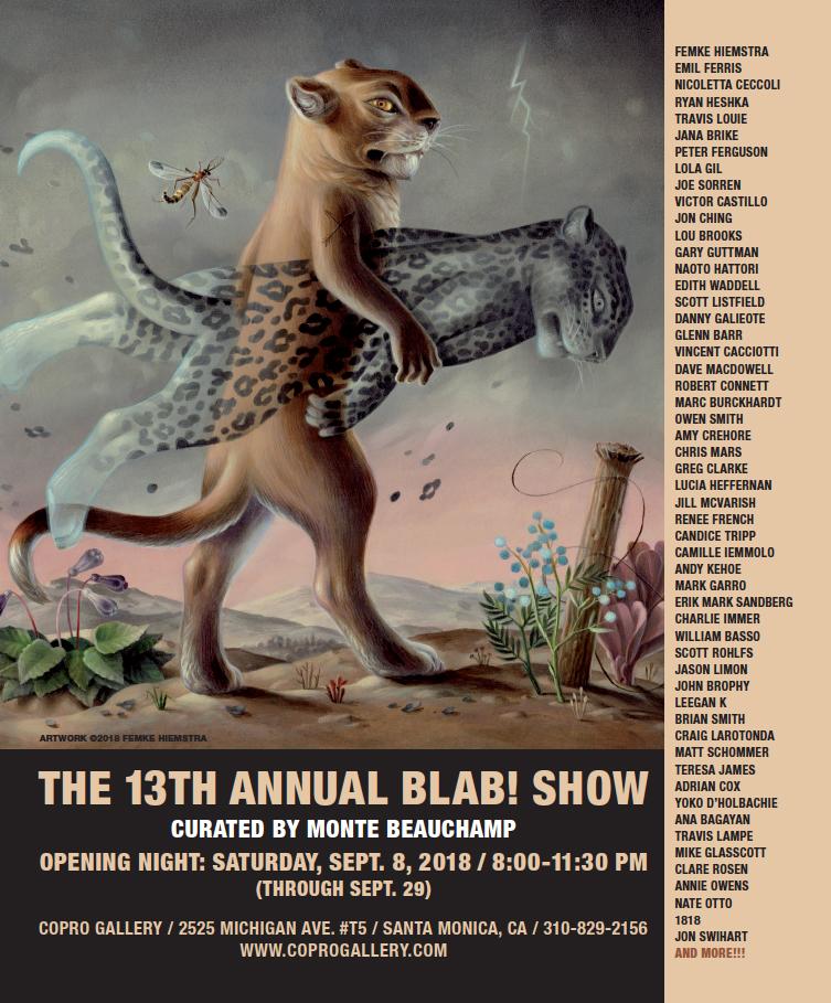 13th annual BLAB SHOW ad