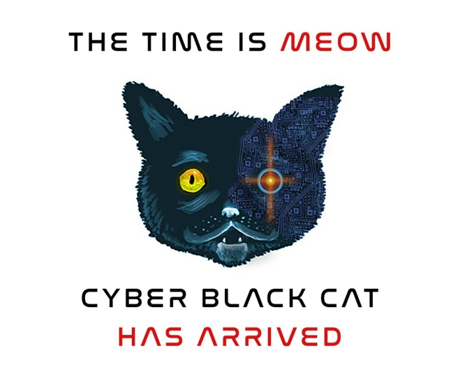 CyberBlackCat 2018 Time is Meow-White Space
